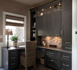 Awesome Built In Cabinet and Desk for Home Office Inspirations 2