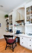 Awesome Built In Cabinet and Desk for Home Office Inspirations 26