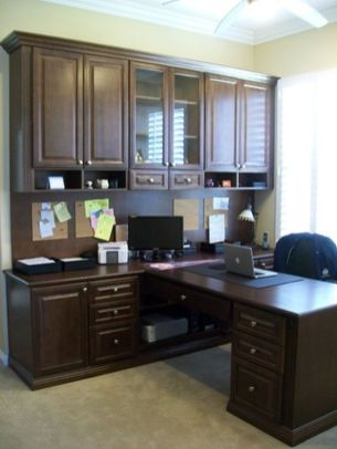 Awesome Built In Cabinet and Desk for Home Office Inspirations 48