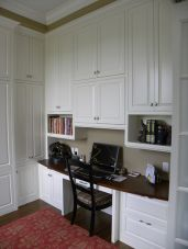 Awesome Built In Cabinet and Desk for Home Office Inspirations 52
