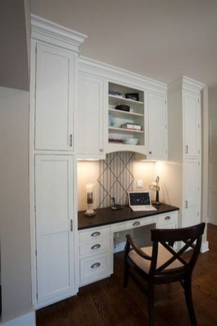Awesome Built In Cabinet and Desk for Home Office Inspirations 69