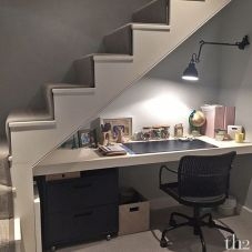 Awesome Cool Ideas To Make Work Space Room Under Stairs 32