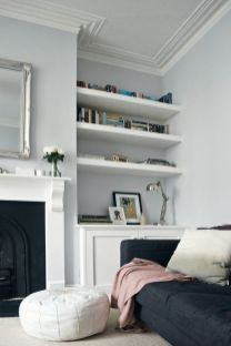 Brilliant Built In Shelves Ideas for Living Room 13