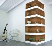 Brilliant Built In Shelves Ideas for Living Room 17