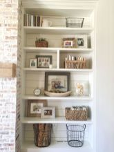 Brilliant Built In Shelves Ideas for Living Room 34