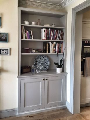 Brilliant Built In Shelves Ideas for Living Room 5