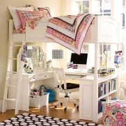 Cool Loft Bed Design Ideas for Small Room 21