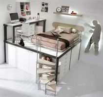 Cool Loft Bed Design Ideas for Small Room 48