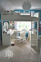 Cool Loft Bed Design Ideas for Small Room 55