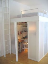 Cool Loft Bed Design Ideas for Small Room 68