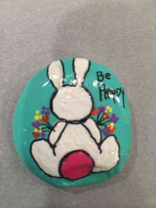 Creative DIY Easter Painted Rock Ideas 28