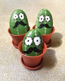Creative DIY Easter Painted Rock Ideas 43