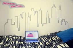 Inspiring Creative DIY Tape Mural for Wall Decor 17