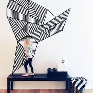 Inspiring Creative DIY Tape Mural for Wall Decor 18