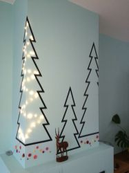 Inspiring Creative DIY Tape Mural for Wall Decor 19