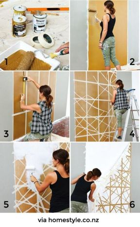 Inspiring Creative DIY Tape Mural for Wall Decor 31