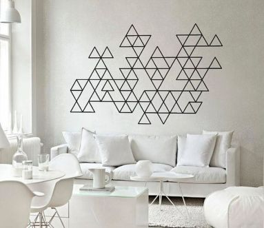 Inspiring Creative DIY Tape Mural for Wall Decor 41