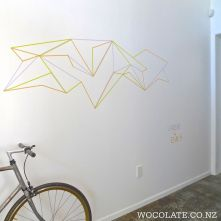 Inspiring Creative DIY Tape Mural for Wall Decor 55