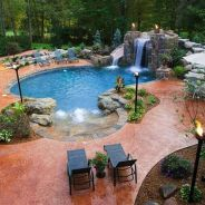 Stunning Outdoor Pool Landscaping Designs 30