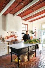 Amazing Brick Floor Kitchen Design Inspirations 11