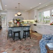 Amazing Brick Floor Kitchen Design Inspirations 30