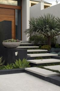 Modern and Contemporary Front Yard Landscaping Ideas 72