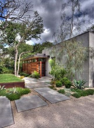 Modern and Contemporary Front Yard Landscaping Ideas 81