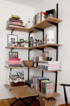 Corner Wall Shelves Design Ideas for Living Room 31
