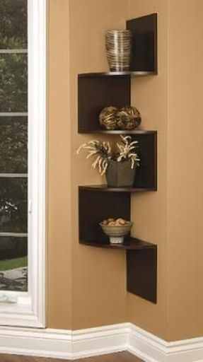 Corner Wall Shelves Design Ideas for Living Room 34