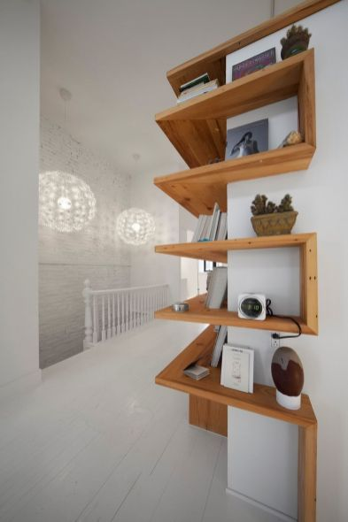 Corner Wall Shelves Design Ideas for Living Room 7