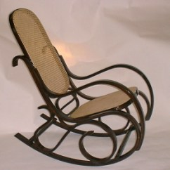 Bentwood Cane Seat Chairs Keller Barber Chair Rockers Rocking Walnut Finish And Back