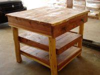 Kitchen Island-Cedar-1 Drawer, 2 Shelves | Rockin' L Designs
