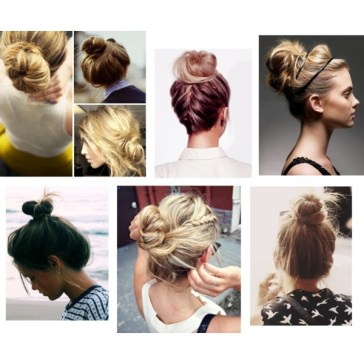 Messy top knot hair inspiration