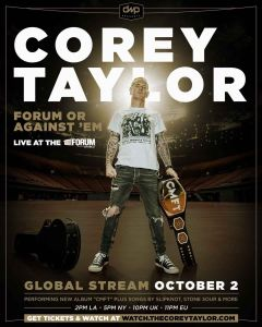 "Corey Taylor anuncia evento virtual ""Forum Or Against' Em"""