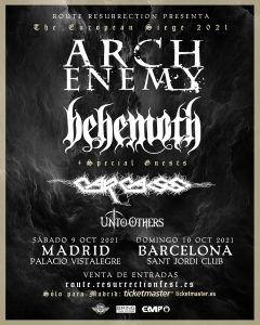 ARCH ENEMY - BEHEMOTH - CARCASS  juntos de gira