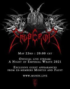 Emperor evento oficial de transmisión en vivo en mayo