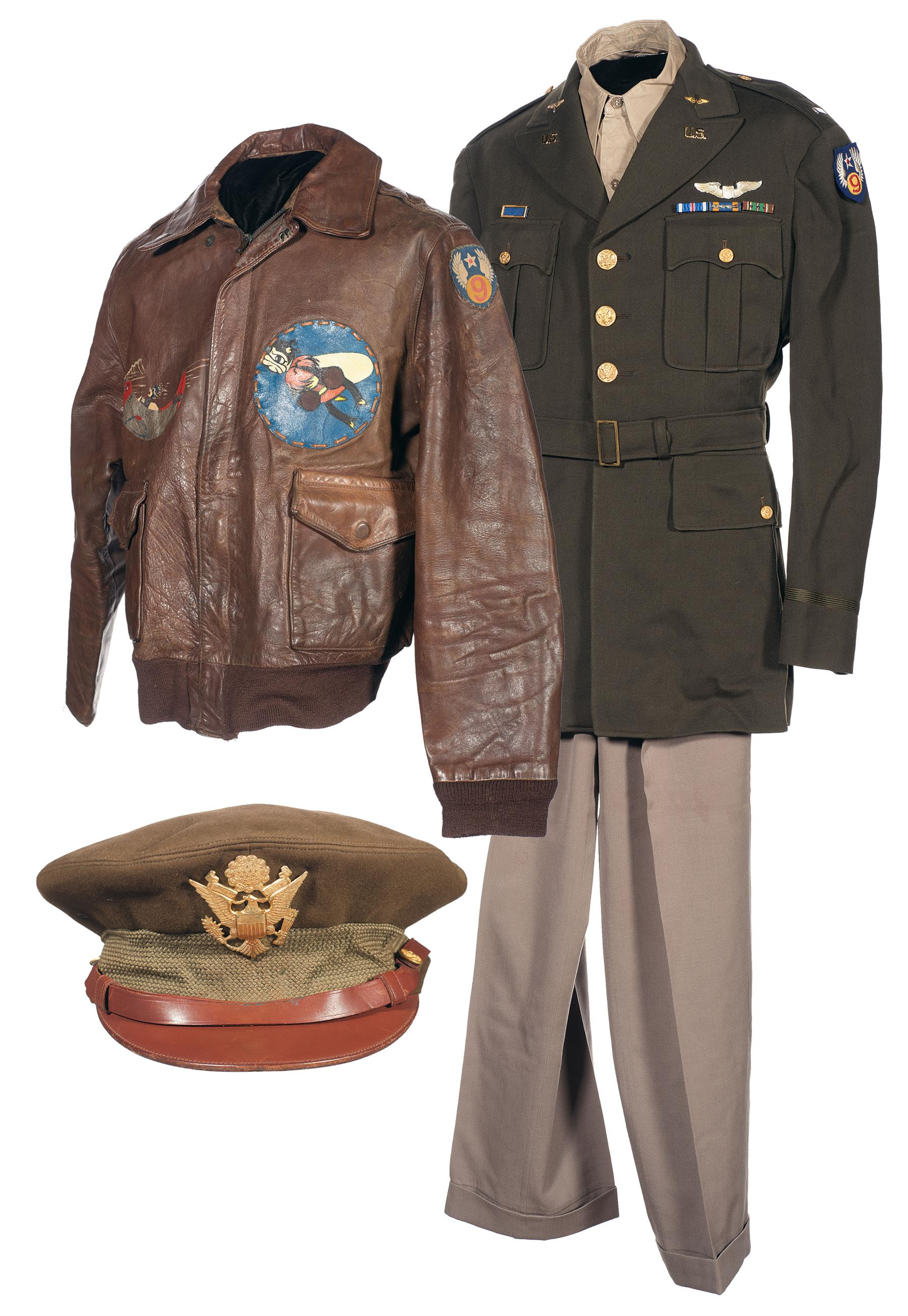 Wwii U S 9th Air Force A 2 Flight Jacket And Service Coat