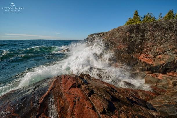 Crashing Wave on Lake Superior, Ontario, Canada