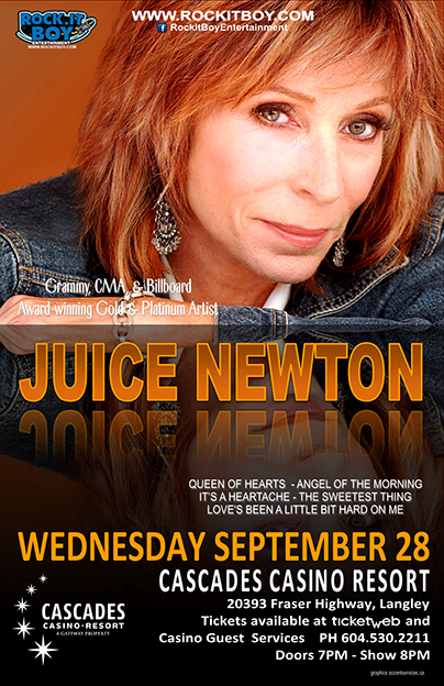 Juice Newton In Langley Rock It Boy Entertainment
