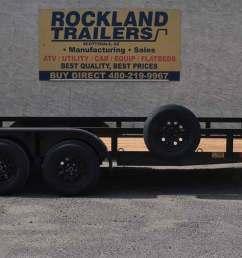standard duty tandem axle utility trailer 7k  [ 1500 x 590 Pixel ]