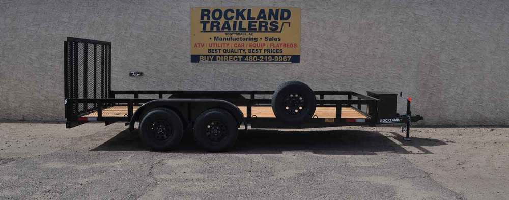 medium resolution of standard duty tandem axle utility trailer 7k