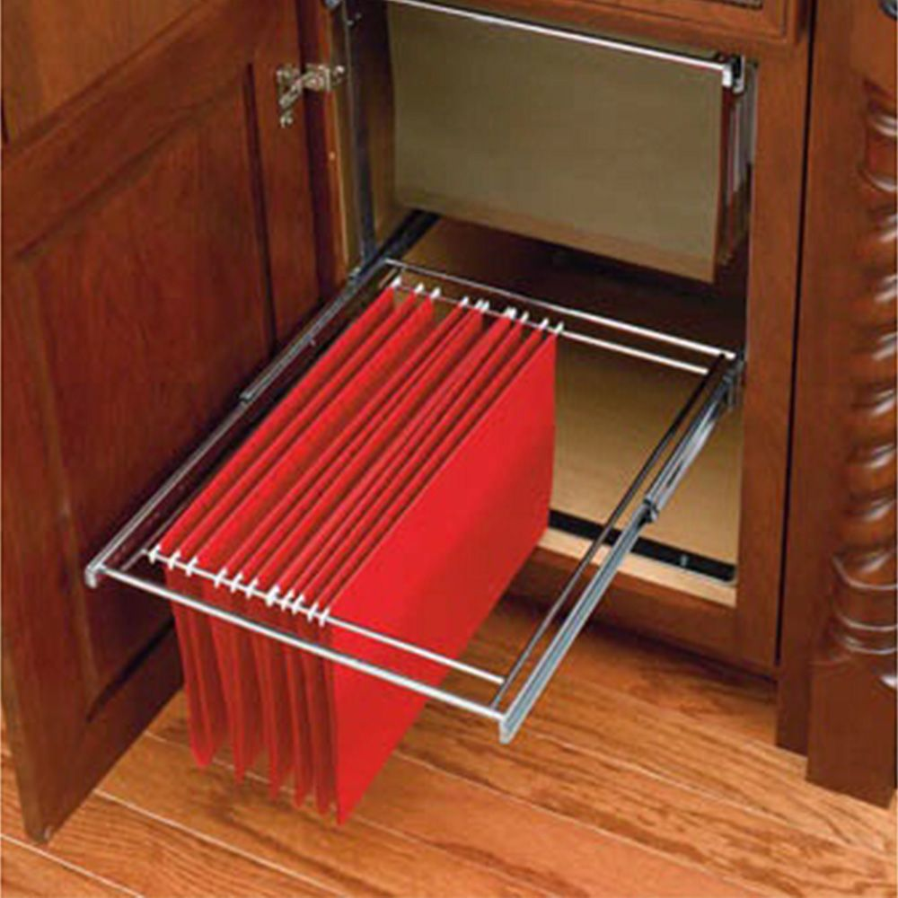 Twotier File Drawer System Chrome Wire RASFDKIT