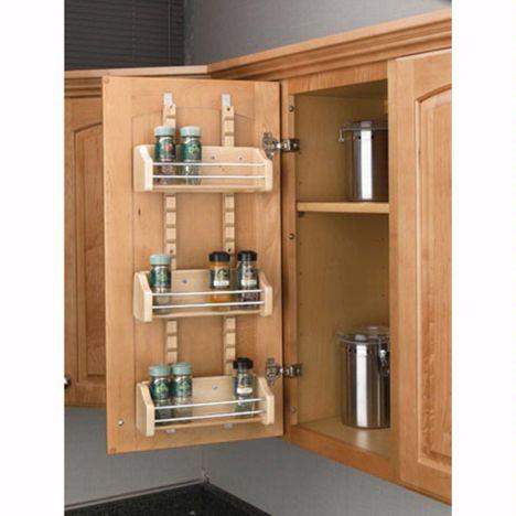 adjustable door mount spice racks rev a shelf 4asr series