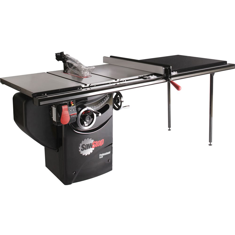 hight resolution of sawstop 3hp professional table saw w 52 fence rails and extension sawstop extension table sawstop table saw with diagram