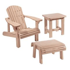 Adirondack Chair Plan Folding Plans Woodworking And Templates With Foot Stool Side Table Tap To Expand