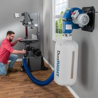 Dust Right Wall-Mount Dust Collector, 650 CFM | Rockler ...