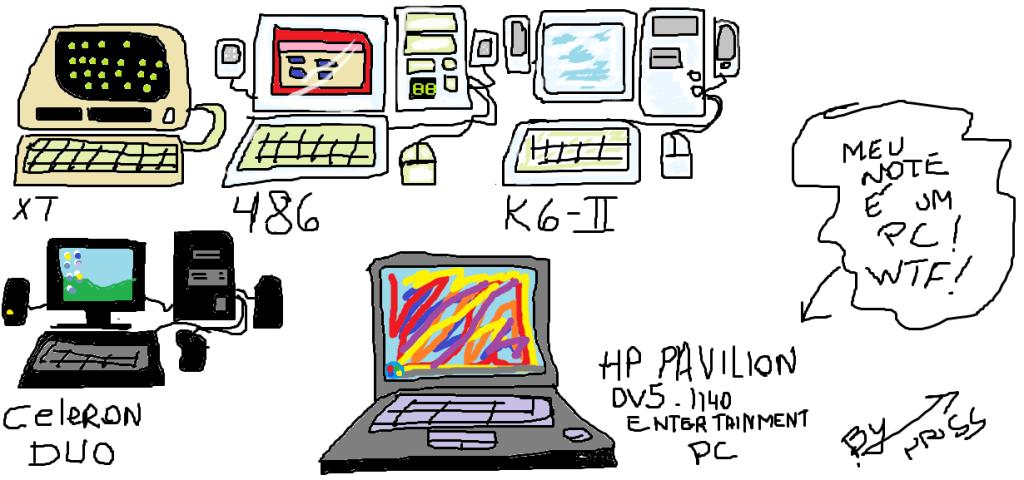 Do XT ao Note, continuo tendo um PC!