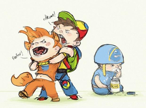 A visão que tenho do Internet Explorer é essa!