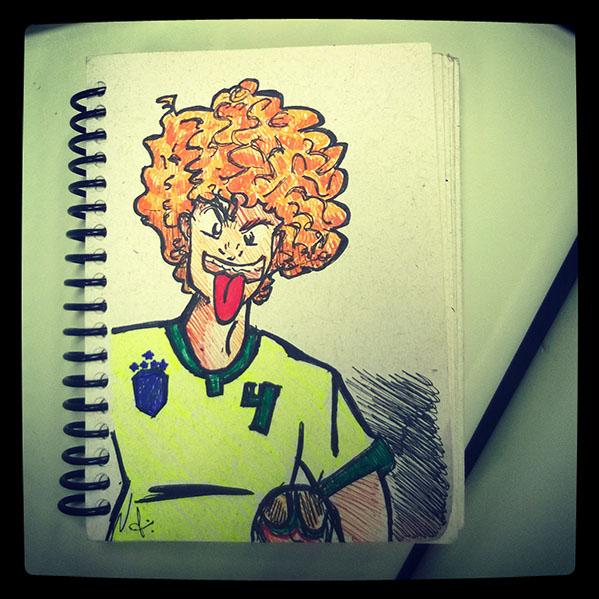 David Luiz, Zagueiro.