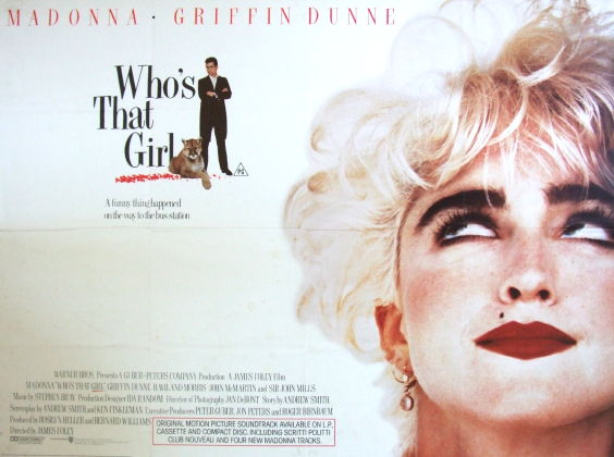 Who's That Girl (1987) UK quad poster